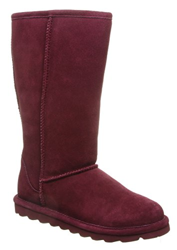BEARPAW Women's Elle Tall Fashion Boot, Wine