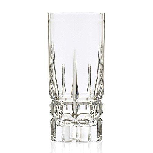 Lorren Home Trend Crystal Carrara Hand-cut Collection Davinci Series High Ball (Set of 4) by Lorren Home Trend