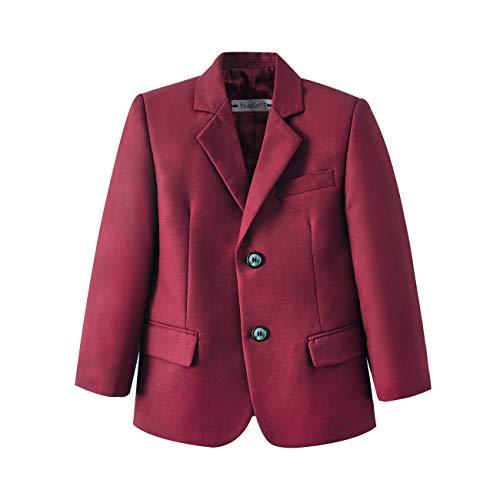 YuanLu Two Buttons Formal Dresswear Boys Suits Blazer Jacket Burgundy Size 10]()