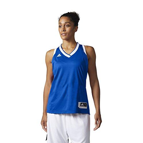 adidas W Crazy Expl Jr Camiseta Baloncesto, Mujer azul (reauni / blanco)