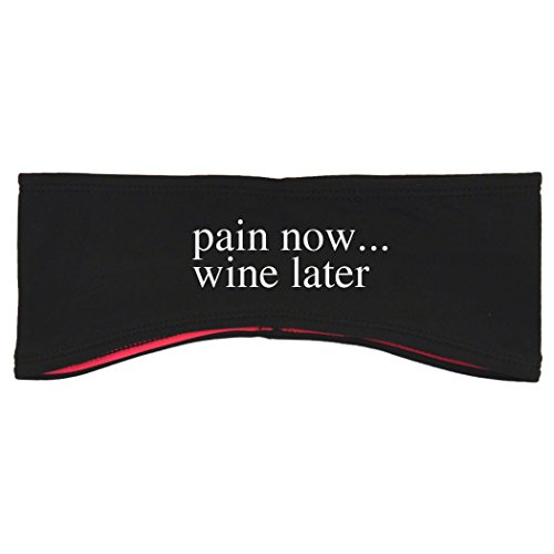 Gone For a Run Running Reversible Performance Headband Pain Now... Wine Later - Black Pink