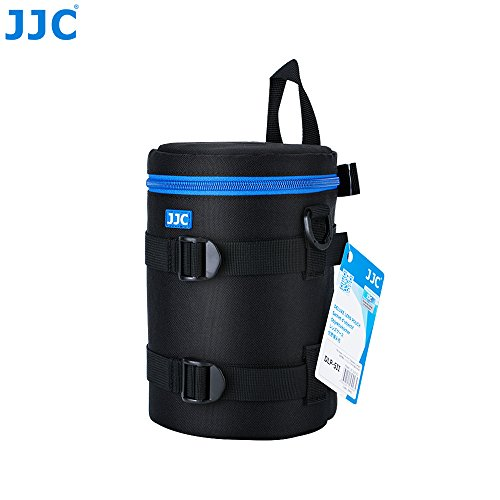 JJC DLP-5II Water Resistant Large Lens Pouch Strap fits up to 113 x 215mm