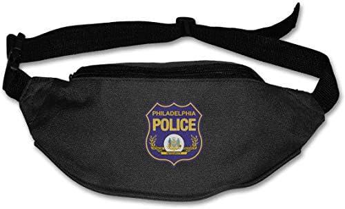 フィラデルフィア警察ユニセックスアウトドアファニーパックバッグベルトバッグスポーツウエストパック