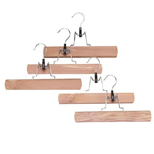 Miles Kimball Cedar Pant Hangers, Set of 5 by (Cedar Pant Hanger)