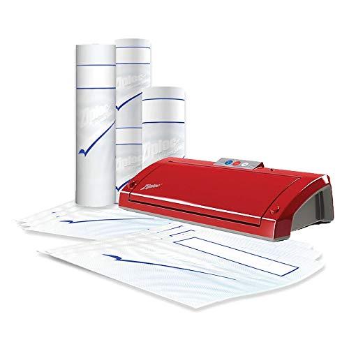 Ziploc V205 Vacuum Sealer Bundle, Red