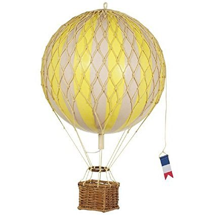 Yellow Hot Air Balloon - Hot Air Balloon, Authentic Models - Travels Light Hot Air Balloon Home Decor, Color - Yellow