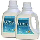 Earth Friendly Products Ecos 2x Liquid Laundry Detergent, Free & Clear, 100-Ounce Bottle