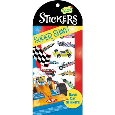 Peaceable Kingdom Super Shiny! Foil Race Car Sticker Pack