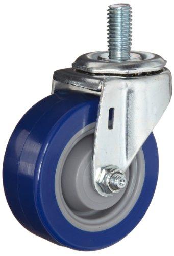 E.R. Wagner Stem Caster, Swivel, Polyurethane on Polyolefin Wheel, Delrin Bearing, 280 lbs Capacity, 5