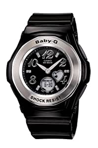 CASIO Baby-G BGA-100-1BER - Reloj de mujer de cuarzo, correa de resina color negro (con cronómetro, alarma, luz)