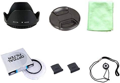 2 hot Shoe+Cloth ND UV CPL Filter Cap Cover Lens Cap line Lens Hood 55mm 7 in1 49 52 55 58 62 67 72 77 82mm Lens UV Filter