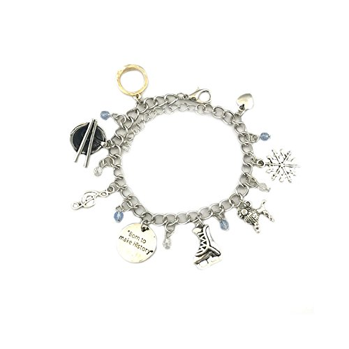 Yuri! On Ice Anime Silver Tone Multiple Charms Bracelet w/Gift Box by Superheroes (Colossus Costume)