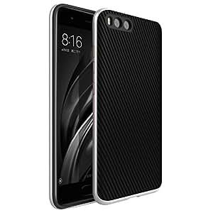 WindCase Xiaomi Mi 6 Case, Premium Anti-scratch Bumper Frame Dual Layer Shockproof Carbon Fiber Case Cover for Xiaomi Mi 6 Silver