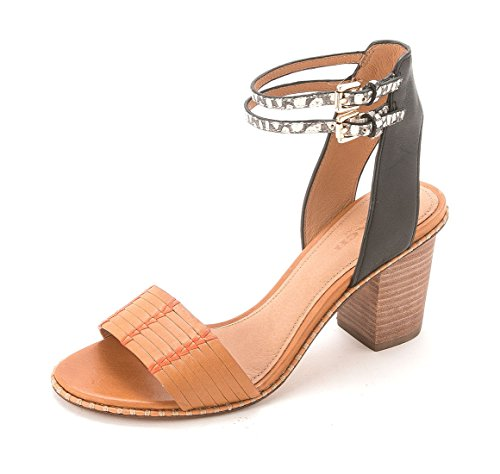 Pexton Womens Slide Leather Sandals Ginger Black Coach Toe Open Casual Y5qYd
