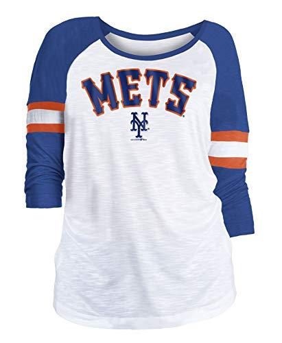 (New Era New York Mets Women's MLB Baseball 3/4 Sleeve Raglan Shirt)