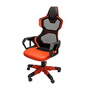 racingstyle gaming chair cobraergo shockproof nylon seat best for gamers home and office adjustable height and headrest rock swivel and recline