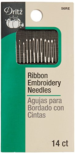 Dritz 56RE Ribbon Embroidery Hand Needles, Assorted Sizes (14-Count)