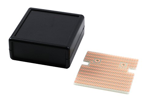 KIT-1593K Box+PCB, Black ABS Plastic Box, with PR1593K PCB, Box = 2.6 x 2.6 x 1.1 in