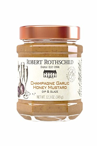 - Robert Rothschild Farm Champagne Garlic Honey Mustard Dip (12.3 oz) - Dip & Glaze - Pretzel Dip - Pork, Chicken, Salmon Glaze - Gluten Free