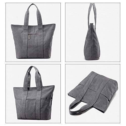 Lavoro Adatto Di Donna Shopping Bag A Grande Tote Tela Tracolla Il YJIUJIU Borsa Capacità In Da Per Borsa Lo qWxwvWUOfE