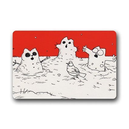 Simon's Cat Christmas Custom Doormat -