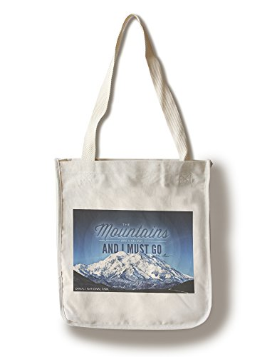 Lantern Press Denali National Park, Alaska - John Muir - The Mountains are Calling - Circle - Photograph (100% Cotton Tote Bag - Reusable)