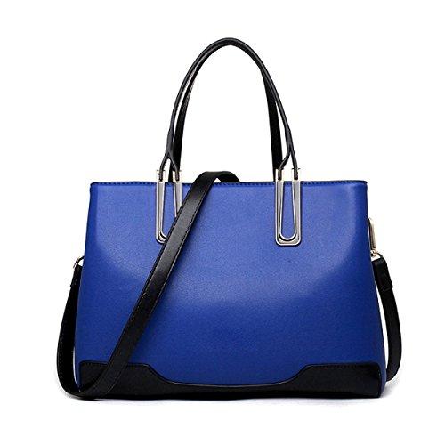 CHFUD Bolso De Hombro De Las Señoras Bolso Cruzado PU Golpeó La Moda Del Color Blue