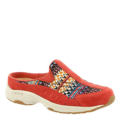Easy Spirit Travel Time Women's Slip On 10 C/D US Clay-Orange-Multi