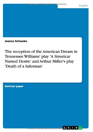 The reception of the American Dream in Tennessee Williams' play 'A Streetcar Named Desire' and Arthur Miller's play 'Death of a Salesman' by GRIN Publishing