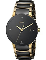 Rado Mens R30929712 Centrix Jubile Gold Plated Stainless Steel Bracelet Watch
