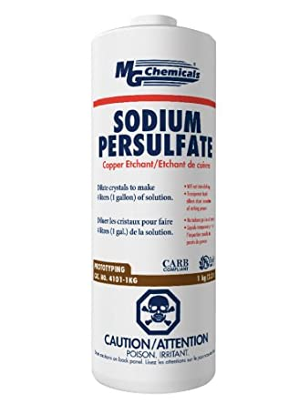 MG Chemicals 4101 Sodium Persulphate Copper Etchant, 1 Kg Solid Crystals Bottle