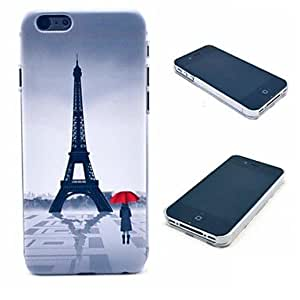 Paris Eiffel Tower and Girl Pattern Hard Case for iPhone 4/4S