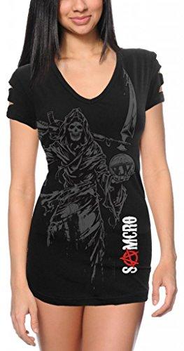 Sons of Anarchy Reaper Ladies Shoulder Cut Top