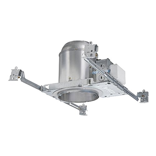 Halo H573ICAT1D Cfl Recessed Lighting Dimmable New Construction IC Air-Tite Housing, 5 In, Aluminum - Cfl New Construction Housing