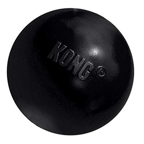 KONG – Extreme Ball – Durable Rubber Dog Toy for Power Chewers, Black – for Medium/Large Dogs