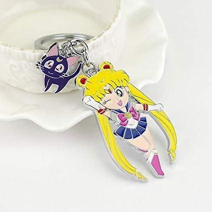 MINTUAN Anime Lindo Sailor Moon Figura Juguetes Llavero Luna ...