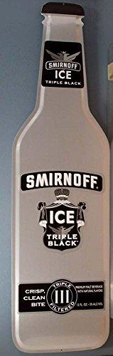 smirnoff-ice-triple-black-bottle-shaped-metal-tacker-sign