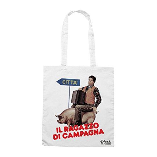 Borsa RAGAZZO DI CAMPAGNA POZZETTO - Bianca - FILM by Mush Dress Your Style