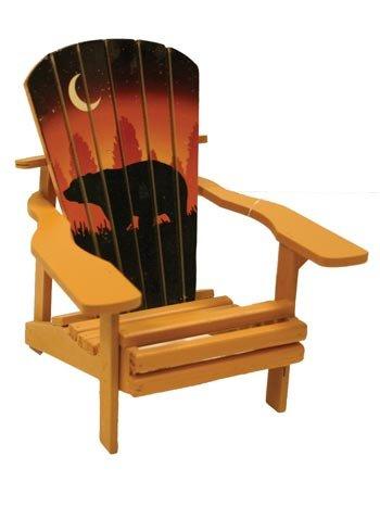 Adirondack Chair Miniature Replica, Bear Sunset (Made of Wood) -