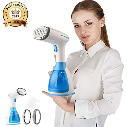 Portable Garment Steamers for Clothes Irons Handheld 1100W Mini Steam Iron Clothing Wrinkle Remove Fabric Travel Steamer 15s Fast Heat-up 100% Safe Ironing 280ml High Capacity Suitable for Home