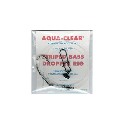 Size 7//0 Aqua Clear ST-7BHFF Striped Bass Fish Finder Rig Nickel Finish