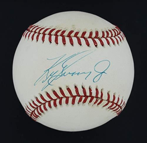 Ken Griffey Jr. Signed Ball - 1990s OAL COA #AA13186 - JSA Certified - Autographed Baseballs (Baseball Oal Ball)