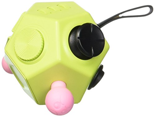 Fidget Dodecagon – 12 Sided Fidget Cube Relieves Stress and Anxiety – Toy Increases Focus and Attention for Children and Adults with ADHD, ADD OCD, and Autism (Green) - 2