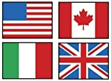 Trend Enterprises Flags of The World Super Shapes Stickers (800 Piece)