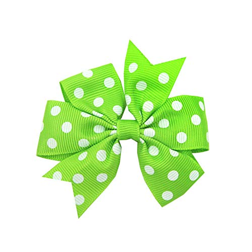 Bejeweled Slide (Baby Hair Bows For Girls Hair Knot Hair Accessories Alligator Hair Clips WH8 (Color - Green))