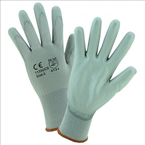 Price comparison product image West Chester 713SUCG / S PU Palm Coated Gray Nylon Gloves, Small (Pack of 12)