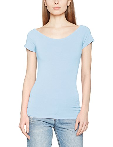 Only Onllive Love Ss Off Shoulder Top Noos, Camiseta para Mujer Azul (Cashmere Blue)
