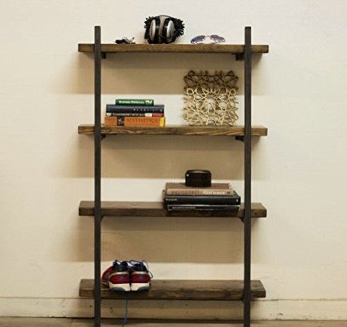 Reclaimed Wood And Steel Bookcase