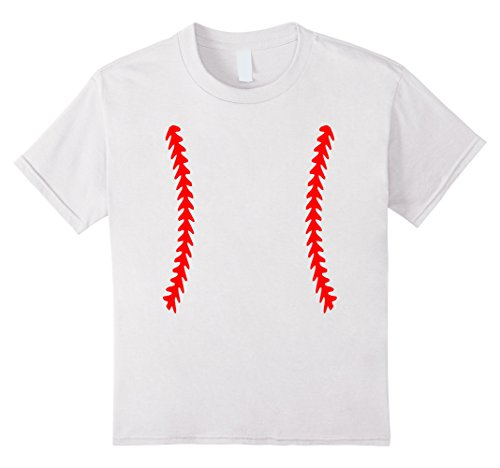 Baseball Halloween Game Costumes (Kids Funny Halloween Baseball Kid's Costume T Shirt 12 White)