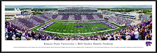 Kansas State Football, Stripe - 40.25x13.75-inch Standard Framed Picture by Blakeway Panoramas Bill Snyder Family Stadium
